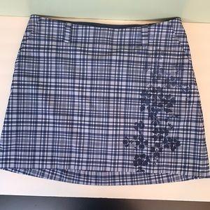 NikeGolf Dri-Fit Skirt/Skort Size 10 Blue/white